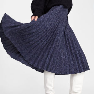 NWT Zara Size S Pleated Under Knee Skirt